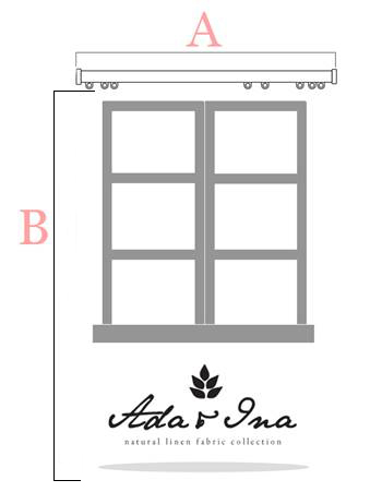 How to measure curtains for a curtain track - Ada & Ina