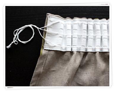 Aufhängemöglichkeiten für Vorhänge mit Smokeband