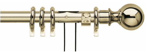 Corded curtain poles from Ada & Ina