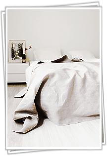 Unsere Leinen Bettüberwürfe