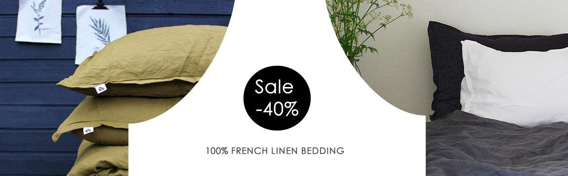 Leinenbettwäsche von Ada & Ina - 40% Rabatt, schöne Farben zur Auswahl!