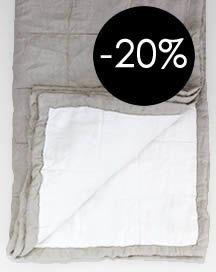 Fertig Bettüberwürfe, 100% Leinen